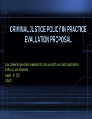Criminal Justice Policy in Practice Evaluation Proposal.pptx