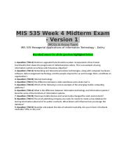 mis535 midterm keller Mis 535 managerial application of informationtechnology complete , mis 535 keller, mis 535 midterm exam, mis535 , mis535 final exam answers, mis535 midterm.