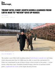 "Trump Intel Chief: North Korea Learned From Libya War to ""Never"" Give Up Nukes.pdf"