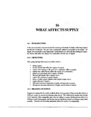 L-16 WHAT AFFECTS SUPPLY