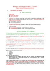 Business environment of China – Lesson 3.docx
