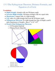 Lecture Notes on The Pythagorean Theorem