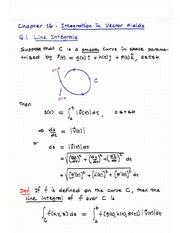 Ch.16- Integration in Vector Fields