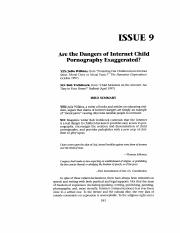 Are the dangers of child pornography exaggerated.pdf