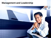 Management and Leadership Presentation1.000