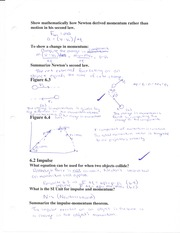 momentum & collisions notes 1
