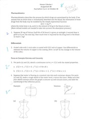 Defferentials, Concavity Assignment