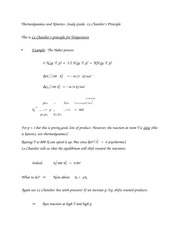 Thermodynamics and Kinetics- Study Guide- Le Chatelier's Principle