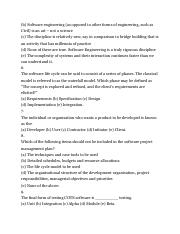 SOFTWARE ENGINEERING Multiple Choice Questions and Answers.3