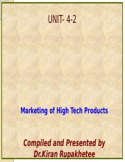 Unit 4-2-Marketing of Technology Products-Special Issue