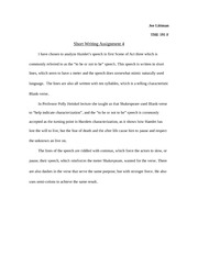 Short Writing Assignment 4