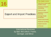 Lecture 7 Export and Import.ppt