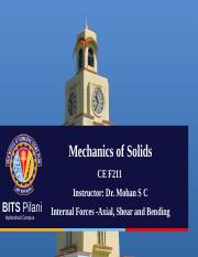 5 Internal Foces - Axial, Shear and Bending- Mechanics of solids S.ppt