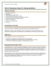 Unit 02 - Case for Business Analytics.pdf