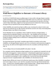 Wall Street Highflier to Outcast_ A Woman's Story - The New York Times