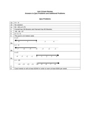 MAT 050 Unit 3 Exam Review Answers - Russell