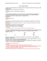 BME 314 Quiz 4 Key