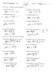 Printables Transformations Worksheet Algebra 2 transformations with key worksheet