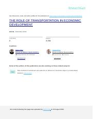 THE ROLE OF TRANSPORT IN ECONOMIC DEVELOPMENT.doc
