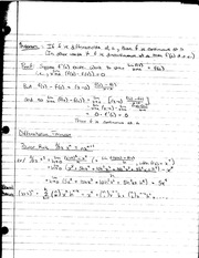 MATH 1231 Lecture Notes on Differentiation