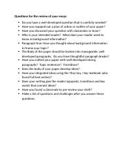 Questions for the review of your essay.docx