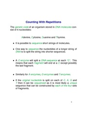 Counting With Repetitions