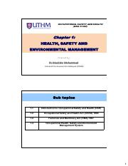 1.1 Health Safety & Environmental Mgmt
