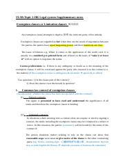 Topic 2-Exemption clause notes (1).doc