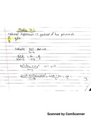 Basic Intermediate Algebra Rational Expressions Notes & Classwork