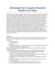 Advantage Toys Case Study