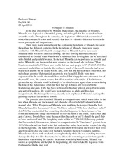 Eng 181 Paper - The Tempest