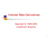 YCM 2001 - Interest Rate Derivatives