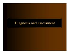 Diagnosis and assessment and Research Methods in Psychopathology