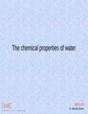 The chemical properties of water.ppt