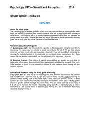 Exam 3 Study Guide Updated
