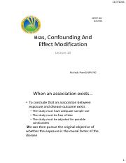 10-Bias confounding and Effect Modification.pdf