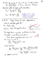 MATH 114 Tangent Planes & Linear Approximation Notes