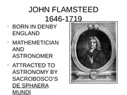 Renaissance Astronomy, Flamsteed, Halley, Newton, Roemer, Bradley