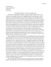 Greek Myth Final Essay- Gender in Greek Mythology