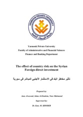 The_effect_of_country_risk_on_the_Syrian.pdf