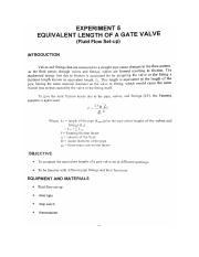 Experiment-5-Equivalent-Length-of-a-Gate-Valve - EXPERIMENT