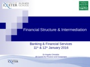 Lecture 1 Financial structure 2016 student