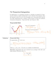7.6 Numerical Integration
