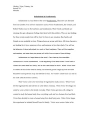 frankenstein isolationism essay