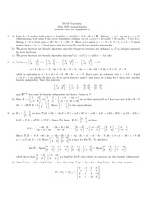 MATH 247 Assignment 4 Solutions