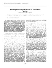 Smelting ferroalloys by means of borate ores