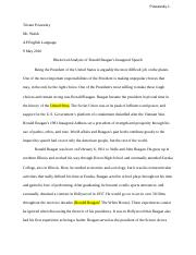 English Final Paper: Reagan