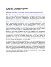 Greek Astronomy article