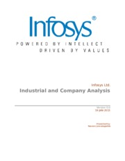 Industry and CompanyInfosys Ltd