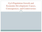 Cp 6 Population Growth and Economic Development